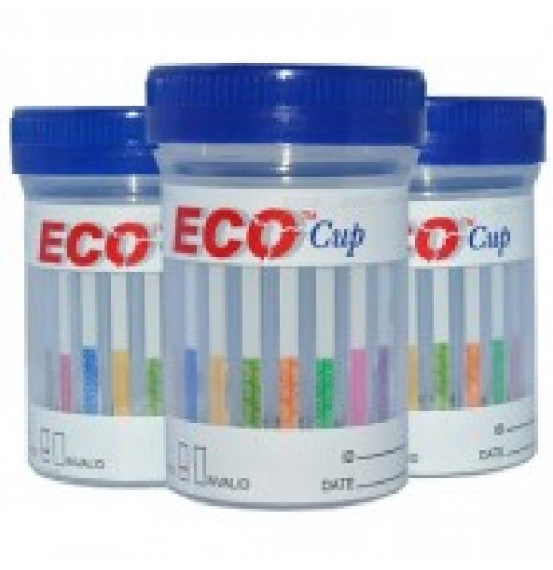 One Step Urine 5 Drugs Screening Cup - Eco Cup AMP/COC/mAMP/OPI/THC